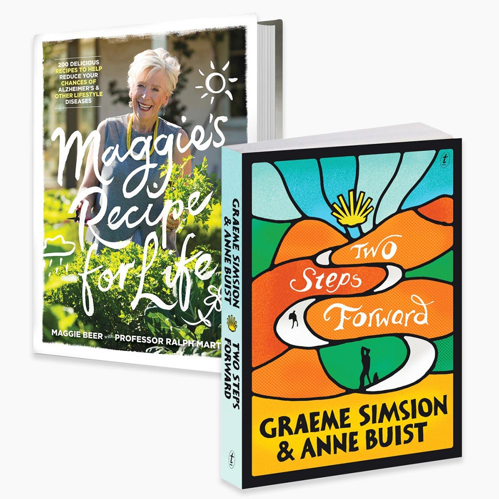 Maggie Beer, Graeme Simsion & Anne Buist book covers