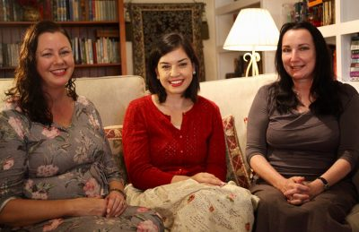 Lauren Chater, Kate Forsyth, Sarah Mills, S.L. Mills, Author Q&A, The Lace Weaver, Word of Mouth TV