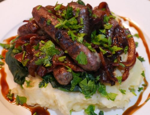 Garth Nix's, can't beat 'em, bangers and mash
