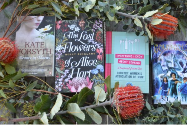 Holly Ringland, The Lost Flowers of Alice Hart, Everythig I Know About Cooking, I Learned from the Country Women's Association of NSW, GOM's Gold, Beauty in Thorns, Kate Forsyth, S.L. Mills, giveaway, win, books, food