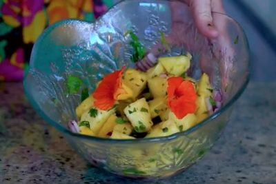 The Lost Flowers of Alice Hart, recipe, pineapple and mint salsa, tomato salad, food, books, authors, Word of Mouth TV