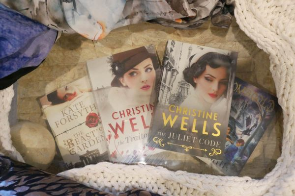 Word of Mouth TV, Christine Wells, The Juliet Code, The Traitor's Girl, Kate Forsyth, The Beast's Garden, S.L. Mills GOM's Gold, giveaway, books, food